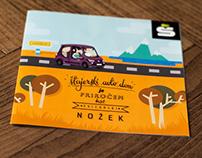 Illustrated promo for Štajerski Avto Dom