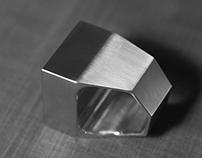 Square Facet Titanium Ring