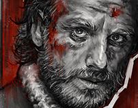 Walking Dead - Monochromatic Portraits