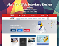 Aksu Tv - Web İnterface Design
