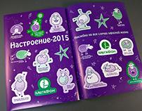 Stickers for employees Megafon company