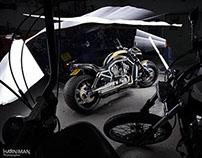 Harley Davidson V Rod and Shovelhead