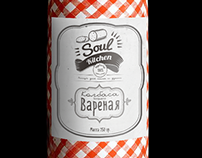 Vegetarian sausage label