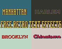 FREE Retro Text Effects