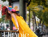 Yulia Serzhantova in Hippie Glam 70's Harper's Bazaar