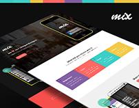 Mix responsive app landing page