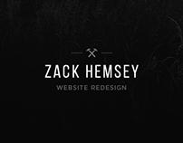 Zack Hemsey - Website Redesign