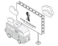 Club Designer | Website Illustration