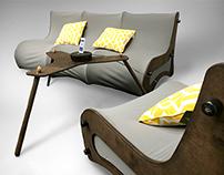 Modern Collapsible Furniture Set       Designed 2014   