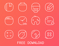 32 Free Vector Iine Icons