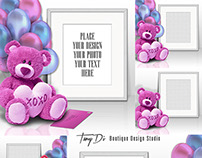 Styled Stock Photography - Romantic Teddy Bear