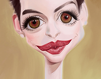 Anne Hathaway Caricature