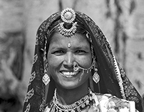 Women from India in B&W