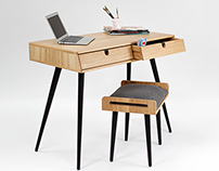 Desk ,bureau, escritorio in oak wood