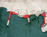 Coastline. Architectural illustration