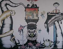 Wall Paint - Snoopool Cafe, Bangalore