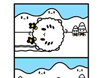 Monster Little comic - snow monster