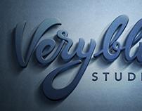 Veryblue lettering logo
