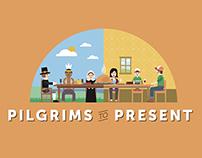 Pilgrims to Present: Thanksgiving Infographic