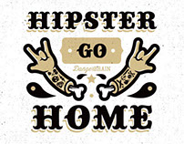 Hipster Go Home T-shirt