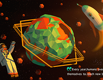 LOW POLY SPACE 'OMETRIC ART