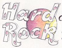 Ballpoint Pen Hard Rock Cafe Logo Design