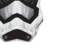 Star Wars Episode VII Storm Trooper Geometric