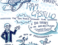 Ram Castillo speaking tour sketchnotes