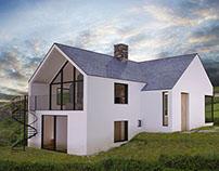 House by the sea in Devon (UK)