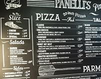 Menu for Panelli's Pizza