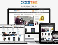 Coditek's responsive e-commerce site