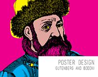 Bodoni & Gutenberg Poster. Poster Art