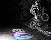 &B Bike beam projector