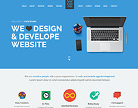 Coco - Flat One Page Website Template