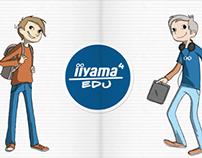 Kids - character design on a website.