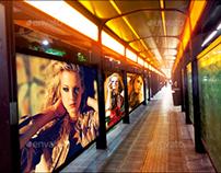 Subway & Bus Stops Mock-Ups Template Pack