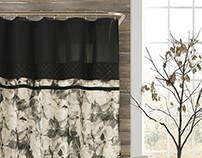 Rhea: Drapery and Shower Curtain