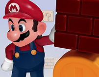 Mario Digital Drawing