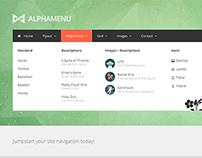 AlphaMenu Responsive jQuery Mega Menu