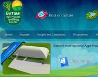 Web Page for Batumi Agri-Product & Technologies Fair