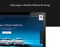 Volkswagen e-Mobility Website Re-Design Concept