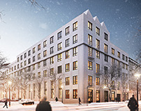 A Space Loft Berlin  - Architectural Rendering