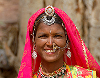 Women from India in colour