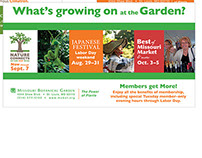Missouri Botanical Garden Ads