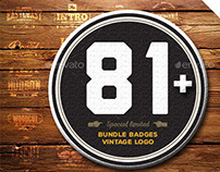 Bundle Badges 81 Vintage logo