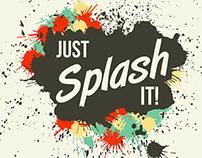 Just Splash It! Grunge vector blots and splashes elemen