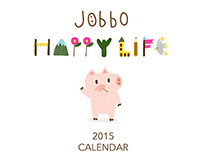 JOBBO happy life 2015 calendar