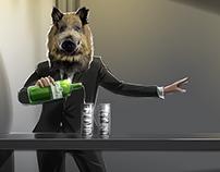 Gordons Gin - Gordon the Boar animatic frames