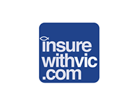 InsureWithVic logo design and branding
