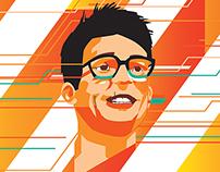 David Babbs portrait for Stuff Magazine.